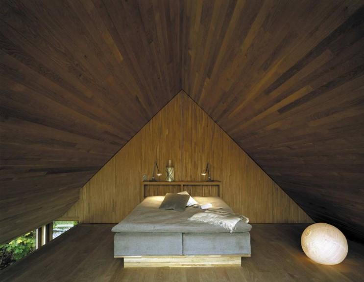 Скандинавский дом спальня
