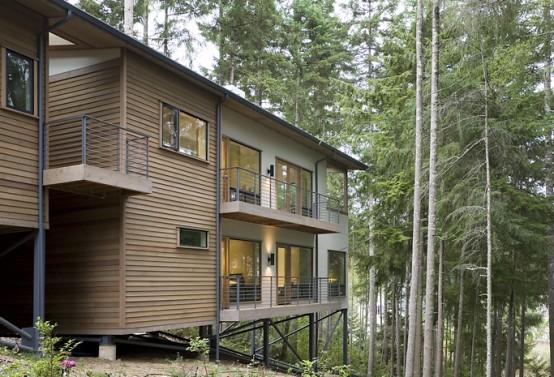 частный модульный дом Trestle House