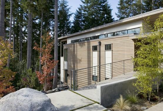 загородный модульный дом Trestle House