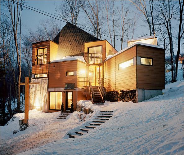 загородный дом из грузовых контейнеров по проекту Maison Idekit Home