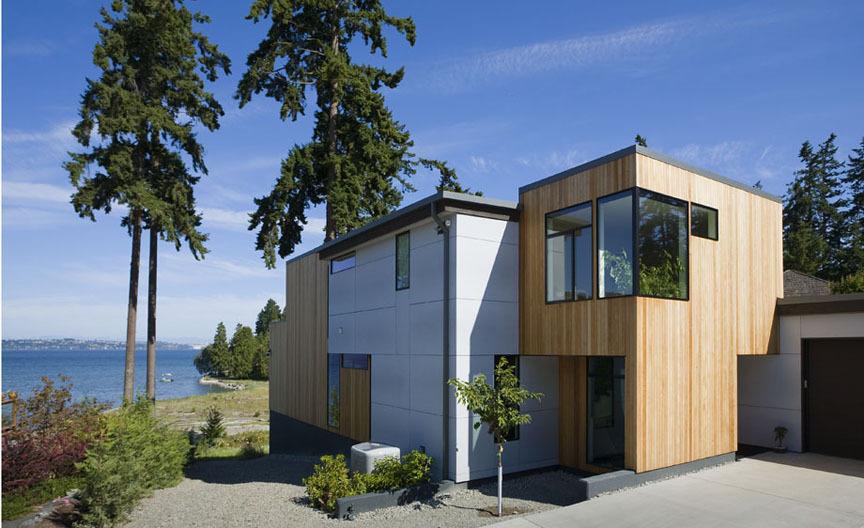 Современный дом на острове Байнбридж