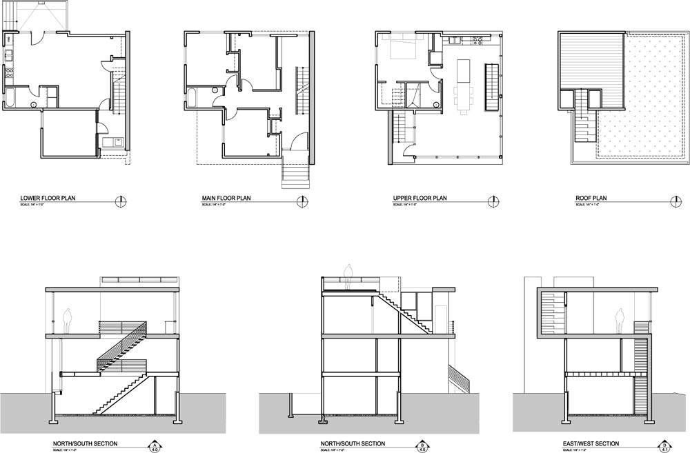 Бюджетный дом - поэтажный план проекта