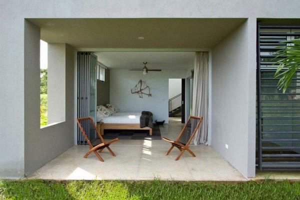дом с зеленой крышей - спальня