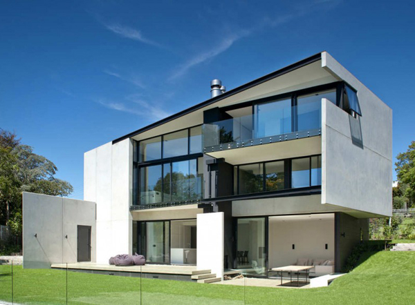 Сборный дом с бетонными стенами в Новой Зеландии