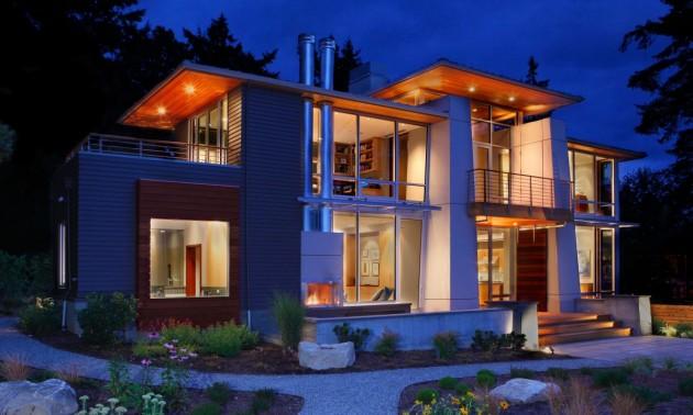 Двухэтажный дом для пары пенсионеров