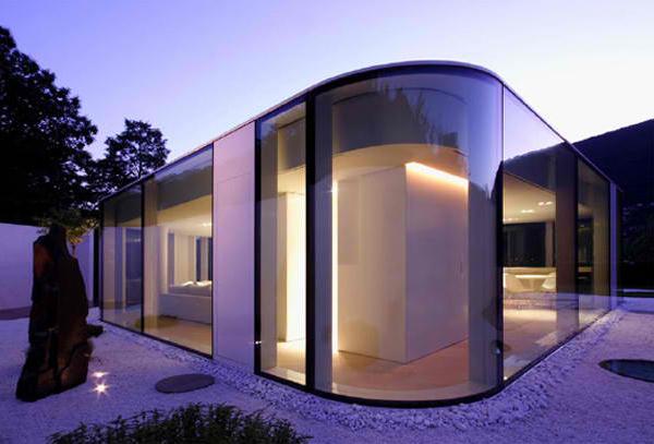 частный  дом из стекла фото 2