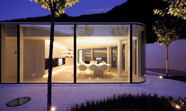 загородный  дом из стекла фото 3