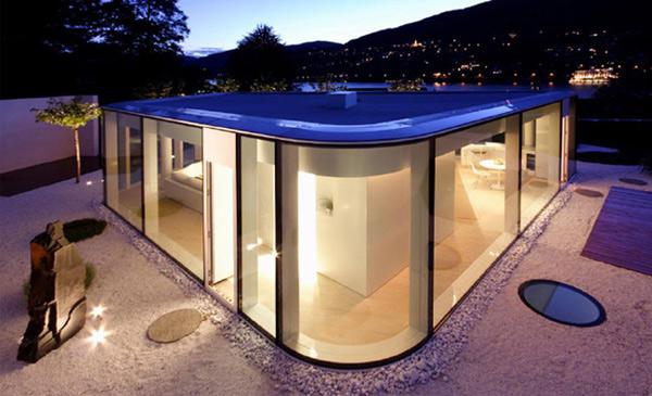 Футуристический дом из стекла фото 1