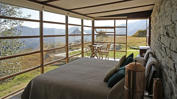 горный дом спальня
