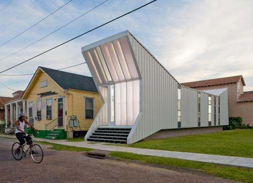 Проект современного малобюджетного дома в Новом Орлеане