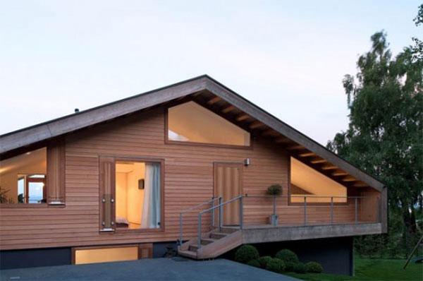 свой дом на рельефе в Швейцарских Альпах