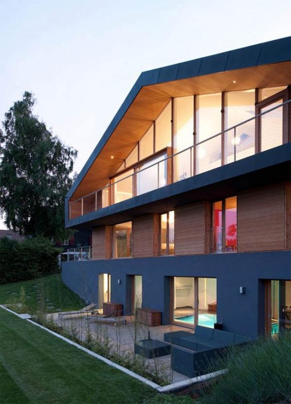 фото дома на рельефе в Швейцарских Альпах