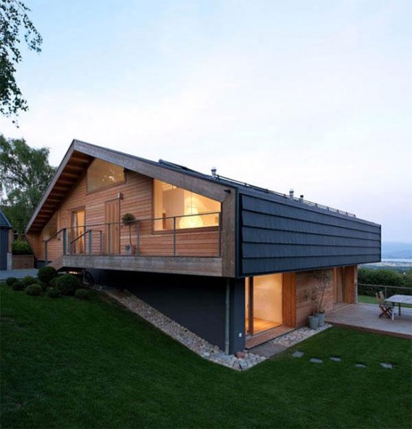 загородный дом на рельефе в Швейцарских Альпах