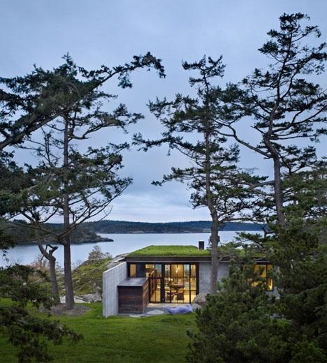загородный дом с террасой - проект Олсон Кундинг