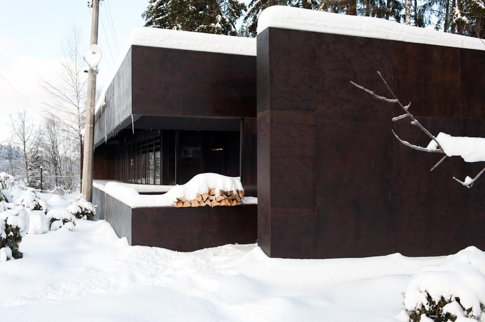 Фасад дома из фанеры своими руками 37