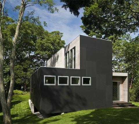 загородный компактный дом  в современном стиле фото 2