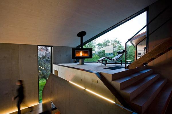 Престижный дом из бетона в современном германском стиле фото 3