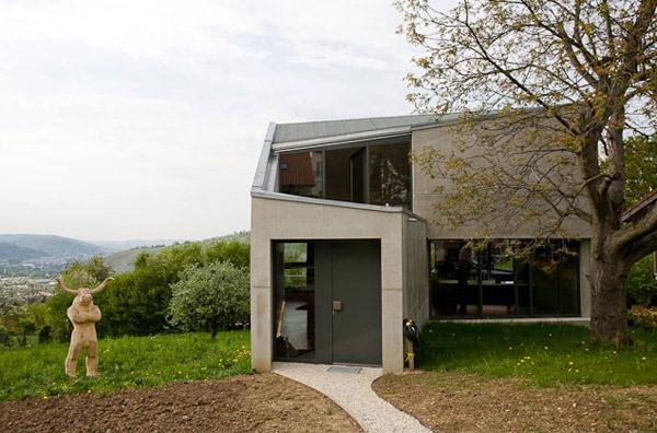 фото домов из бетона в современном германском стиле