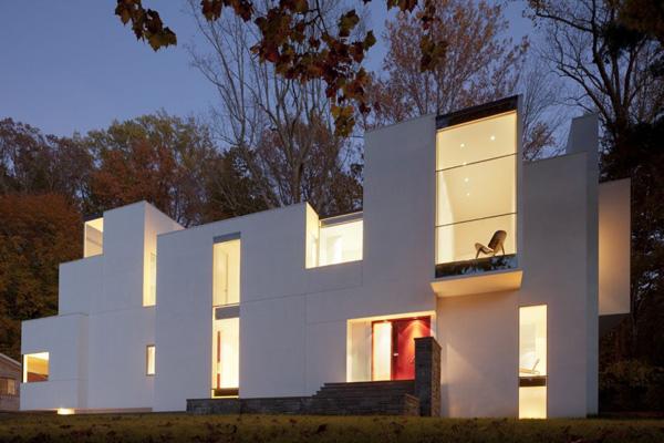 частный разноуровневый дом по проекту David Jameson Architect