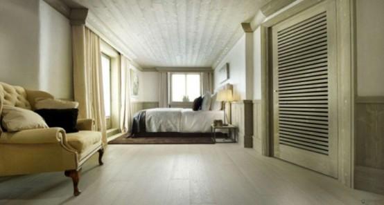 Альпийское шале - фото спальни