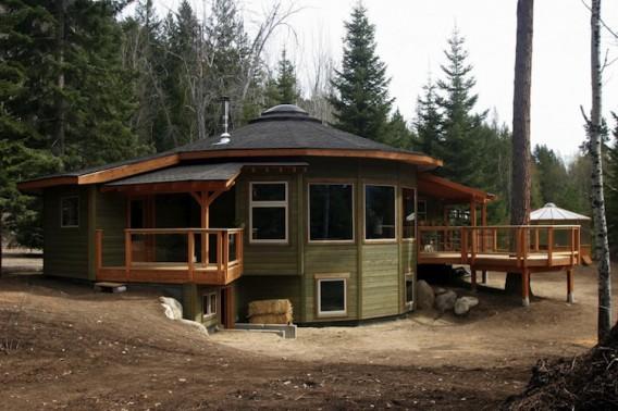 Круглый сборный дом фото 1