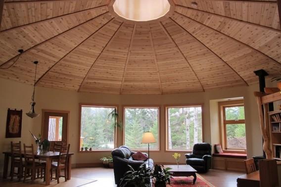 Круглый дом из дерева фото 2