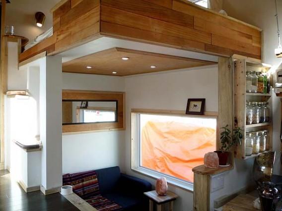 интерьер дома на колесах Leaf House
