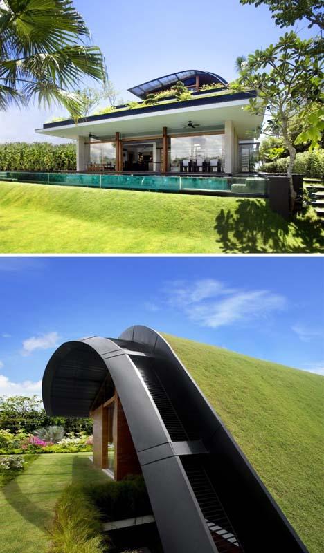 Дом с многоуровневым озеленением фасада фото 3