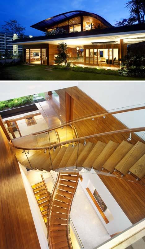 Дом с многоуровневым озеленением фасада фото 2