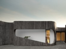 Дом на контрастах с внутренним двориком (7)