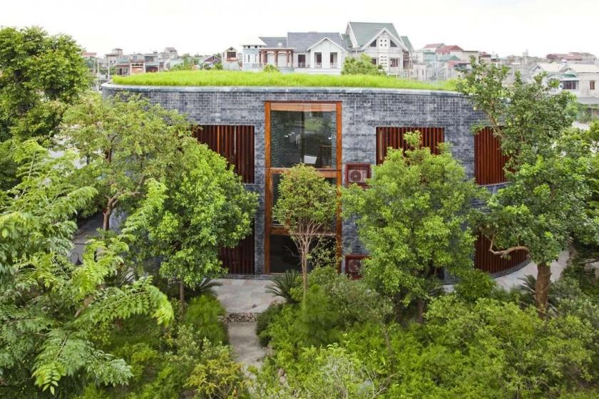 загородный дом-спираль - проект Torus House