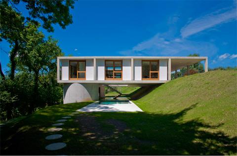 Прямоугольный загородный дом фото 2
