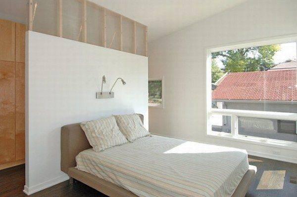 Небольшой каркасный дом - спальня