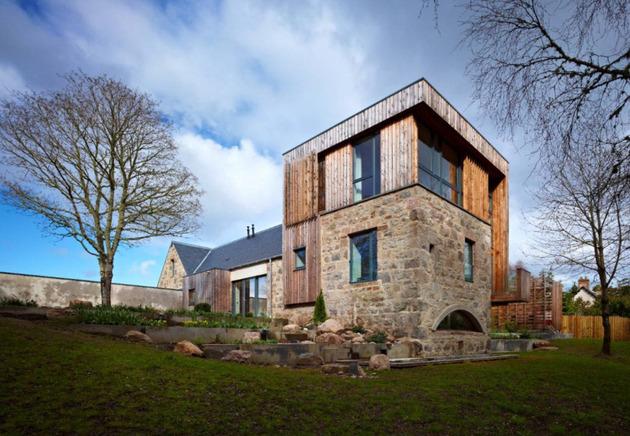 Дом из камня и дерева по проекту Rural Design