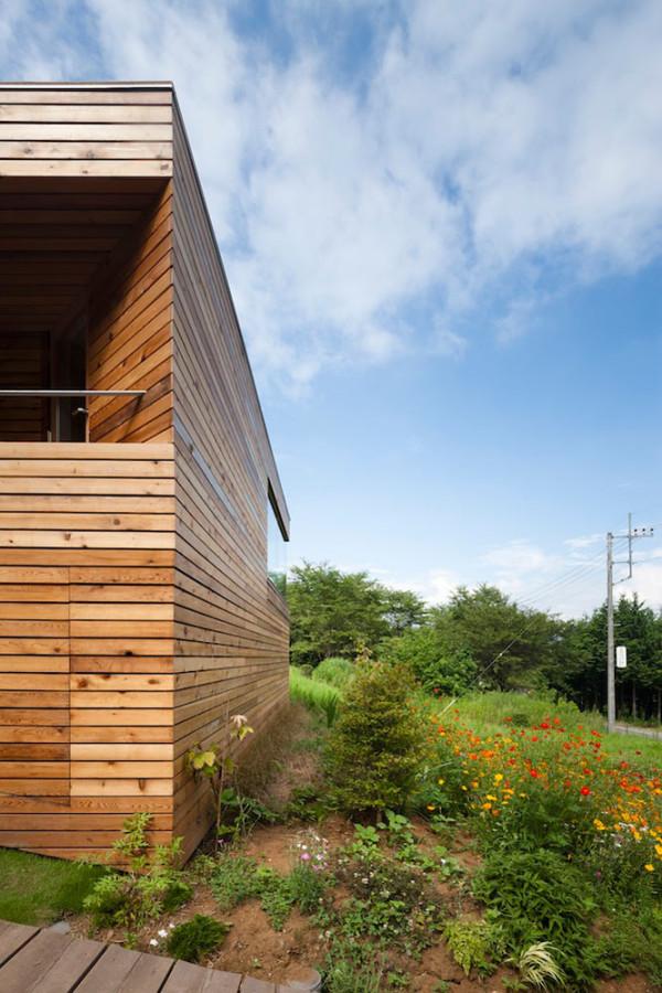 Квадратный дом из дерева проект АСАА