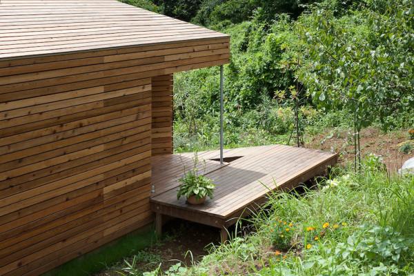 Квадратный деревянный дом проект АСАА