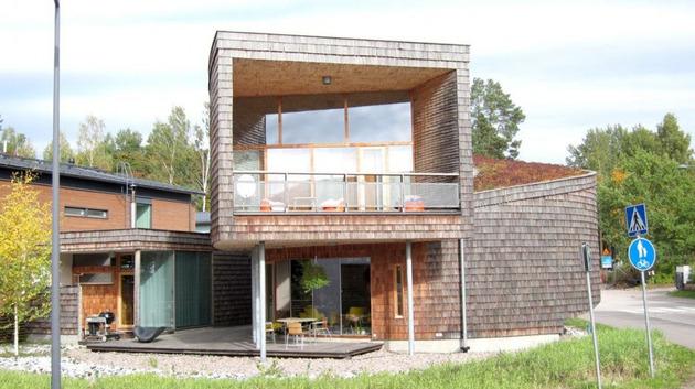 красивый спиральный дом по проекту Olavi Koponen