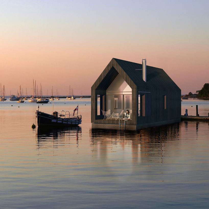 дом лодка на воде фото