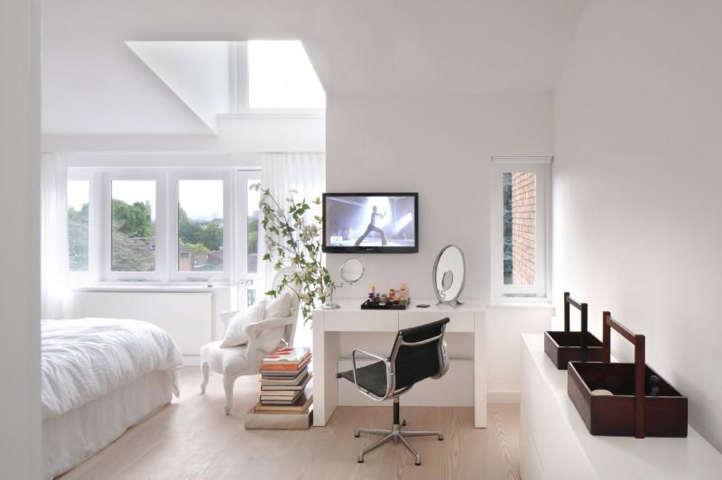 дом в английском стиле спальня