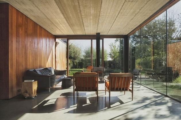 дизайн интерьера первого этажа дачного домика