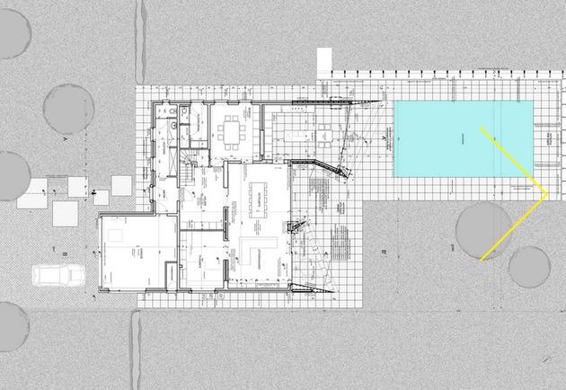 план первого этажа дома с мансардой
