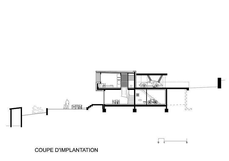 план двухуровневого дома