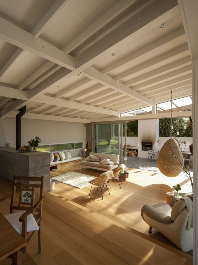 проект загородного дома - гостиная комната