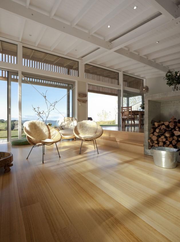 проект загородного дома - гостиная