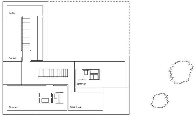 план второго этажа трехэтажного коттеджа