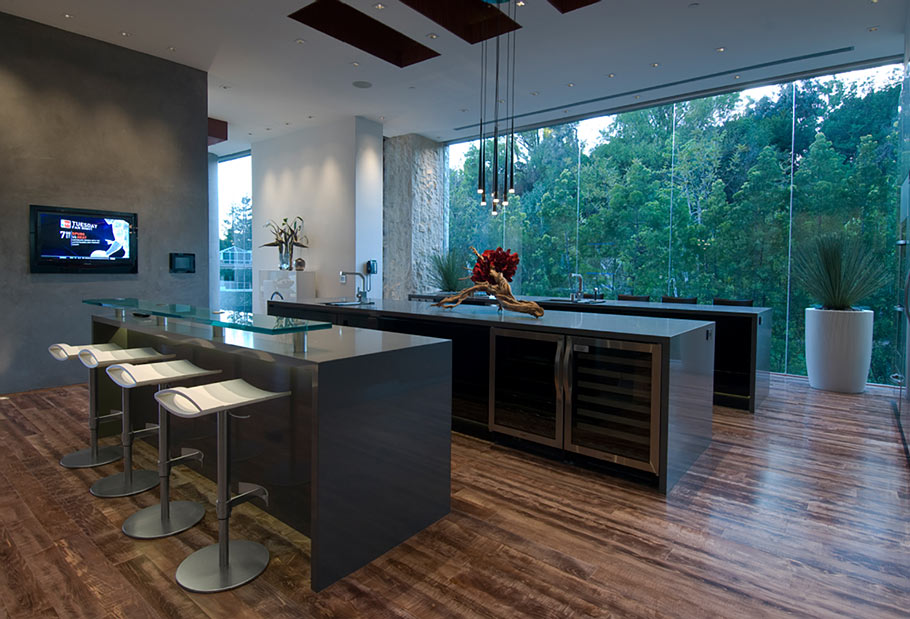 Роскошный особняк холостяка кухня