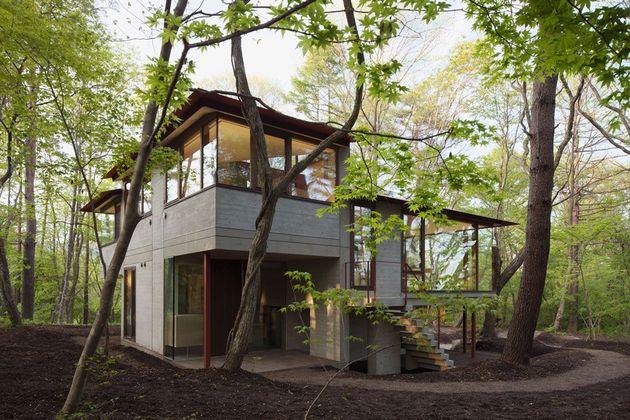 фото особняка с разноуровневыми потолками 6