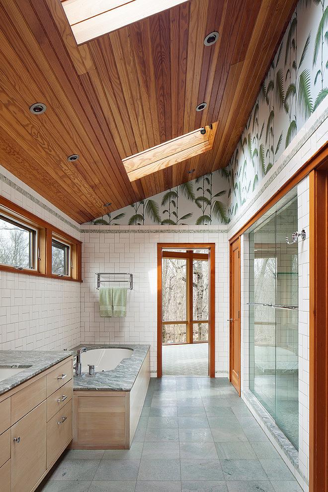 деревянный дом в стиле ранчо 13