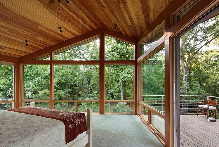деревянный дом в стиле ранчо 12