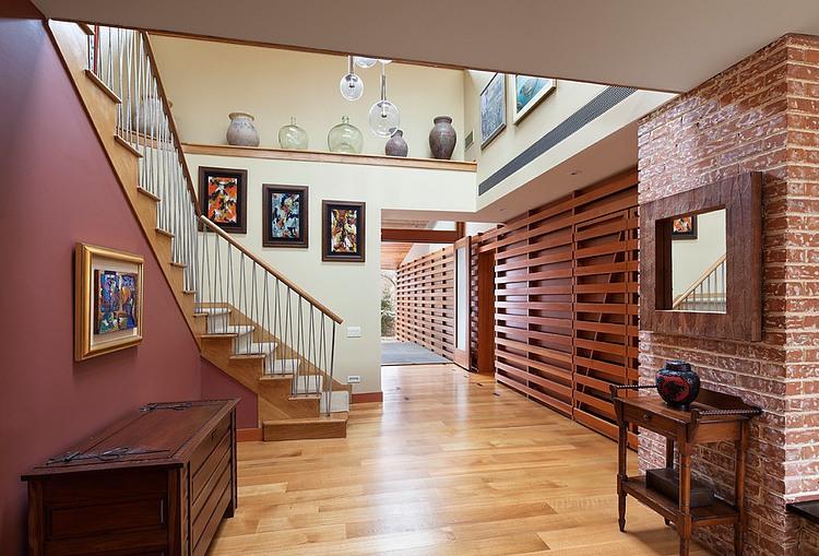 деревянный дом в стиле ранчо 10